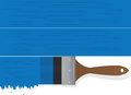 Paintbrush Drip Blue Royalty Free Stock Photo