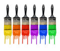 Paintbrushes With Paint Stock Photo