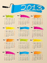 Painted 2013 calendar design Royalty Free Stock Image