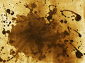 Painted background brown with expressive blots Stock Images