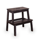 Painted black wooden stool Royalty Free Stock Photo