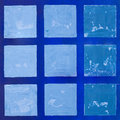 Painted blue square background Royalty Free Stock Photo