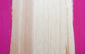 Painted border on wood two stripes of paint form vertical borders pine board Stock Photos
