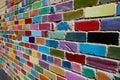Painted Brick Wall Royalty Free Stock Image