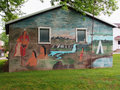 Painted building in ft vallonia indiana Stock Images