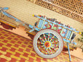 Painted Bullock Cart Stock Photo