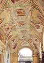Painted ceiling in the loggia delle benedizioni rome italy april with biblical story on back left side of papal Stock Photo