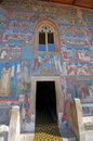 Painted church entrance Royalty Free Stock Photo