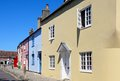 Painted cottages wareham row of colourful townhouses in various colours dorset england uk western europe Stock Photos