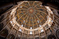 Painted dome ceiling of The Baptistery of Parma Royalty Free Stock Photo