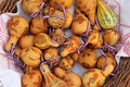 Painted dried gourds Royalty Free Stock Photography