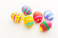 Painted easter egg close up Royalty Free Stock Photos