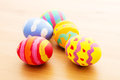 Painted easter egg close up Royalty Free Stock Photo