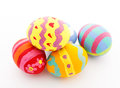 Painted easter egg isolated on white Royalty Free Stock Images