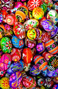 Painted Easter Eggs background Royalty Free Stock Photo