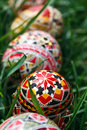 Painted easter eggs traditional specific for the n e of romania Royalty Free Stock Photos