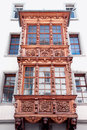 Painted facade of a historic building in the swiss city stein an rhein Royalty Free Stock Photography