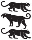 Painted the figure shows a silhouette of a panther Royalty Free Stock Photos