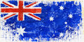 Painted flag hand acrylic of australia Royalty Free Stock Image