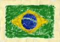 Painted flag hand acrylic of brazil Stock Photos