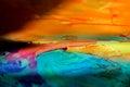 Painted Glass Landscape