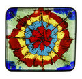 Painted glass tile Royalty Free Stock Images