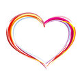 Painted heart illustration vector Stock Photo