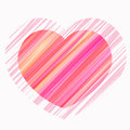 Painted heart in shades of red pink vector and lilac Royalty Free Stock Photos
