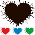 Painted heart with splashing Royalty Free Stock Photos