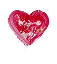 Painted heart - symbol of love Stock Photos