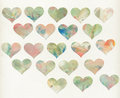Painted Hearts With White Back...