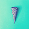 Painted ice cream cone Royalty Free Stock Photo