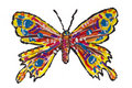 Painted isolated butterfly Stock Image