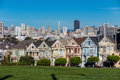 The Painted Ladies of San Francisco Alamo Square Victorian house Royalty Free Stock Photo