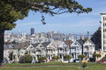 Painted Ladies in San Francisco Royalty Free Stock Photo