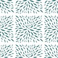 Painted leaves in square shape seamless vector