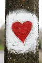 Painted love heart Royalty Free Stock Photo