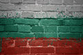 Painted national flag of bulgaria on a brick wall Royalty Free Stock Photo