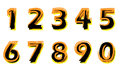 Painted numbers Royalty Free Stock Images