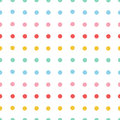 Painted polka dots seamless pattern vector illustration template for decoration and design Stock Photo