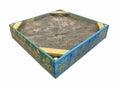 Painted sandbox isolated on white background Royalty Free Stock Photo