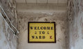 Painted sign inside Trans-Allegheny Lunatic Asylum Royalty Free Stock Photo