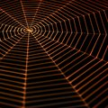 Painted spiderweb full frame symbolic picture with a in dark back orange illuminated Royalty Free Stock Photos