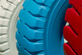 Painted tires Royalty Free Stock Images