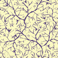 Painted tree brunches seamless pattern background vector with hand drawn elements Stock Image