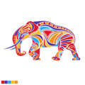Painted vector elephant Royalty Free Stock Photo