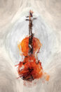 Painted violine Royalty Free Stock Photo