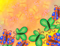 Painted Watercolour Butterfly Paper Canvas Border