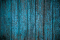 Painted wooden fence background grungy texture of an old in blue see portfolio for other colors Stock Image
