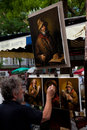 Painter in Montmartre, Paris Royalty Free Stock Photography